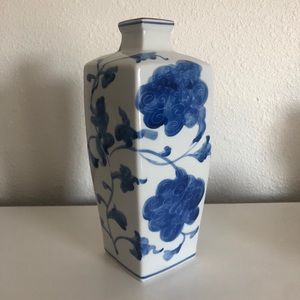 Blue and white made in Japan Painted Vase